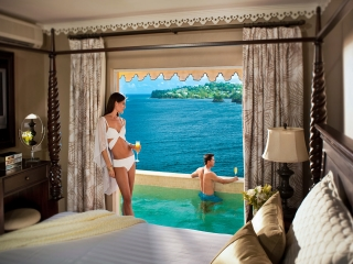 Stunning views from your Sandals suite